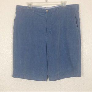 Tommy Bahama Blue Silk Shorts sz 38